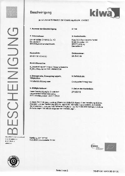 Zertifikate — DONATH-MÜHLE